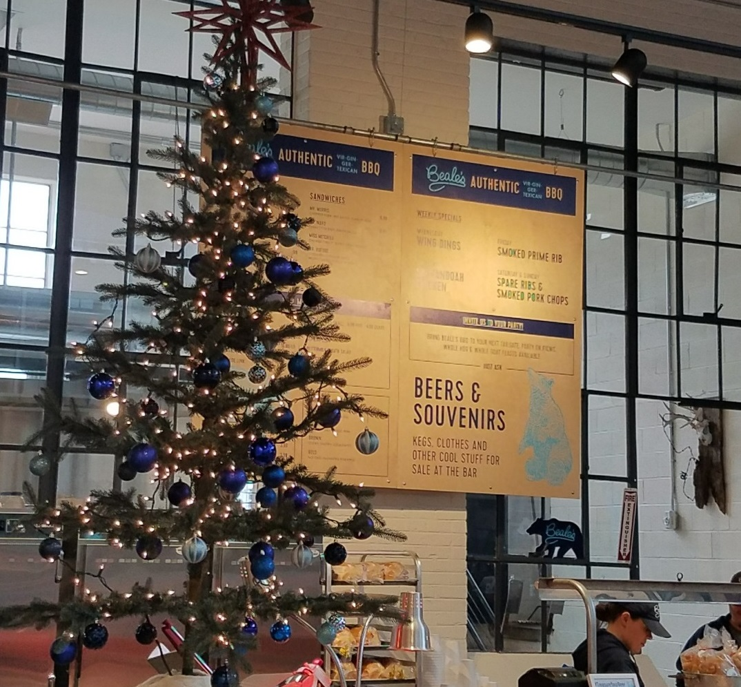 Beales Brewery and Barbecue Christmas Tree